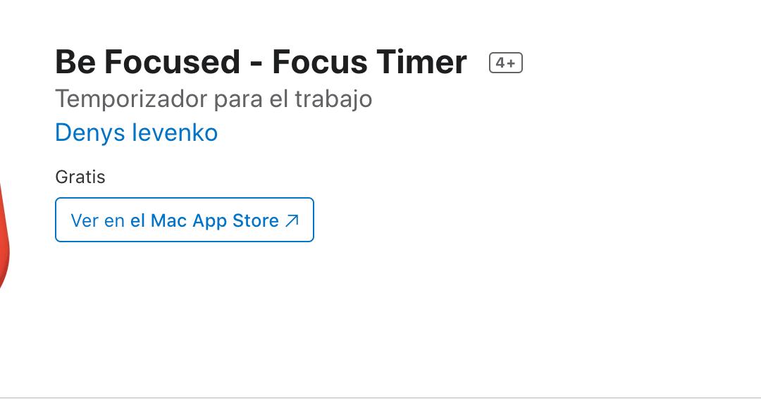 App de la Semana Be Focused
